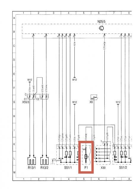 Frage zu Sitzheizung Sicherung F22/1 sowie Steckverbindungen
